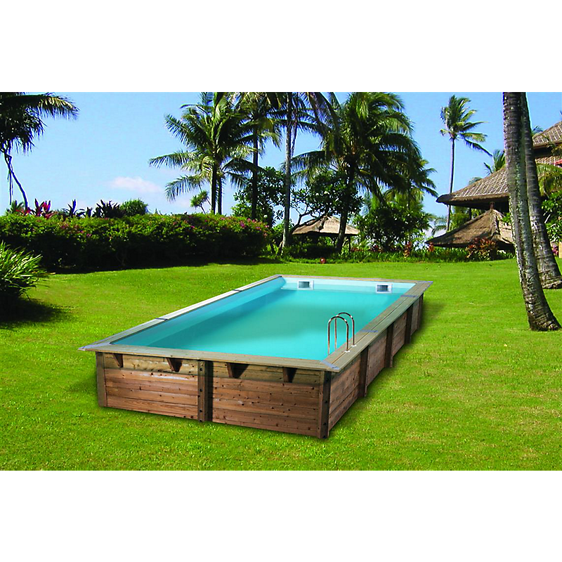 piscine bois rectangulaire 555 x 300 cm maison et loisirs e leclerc. Black Bedroom Furniture Sets. Home Design Ideas
