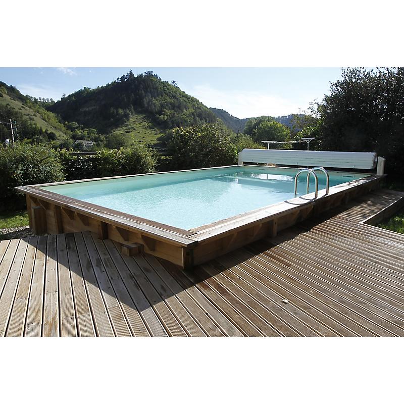 Piscine bois Linéa rectangulaire 650 x 350 x 140 cm