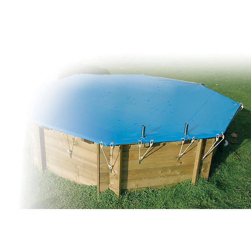 Bâche hiver pour piscine rectangulaire 20 x 3,5 m