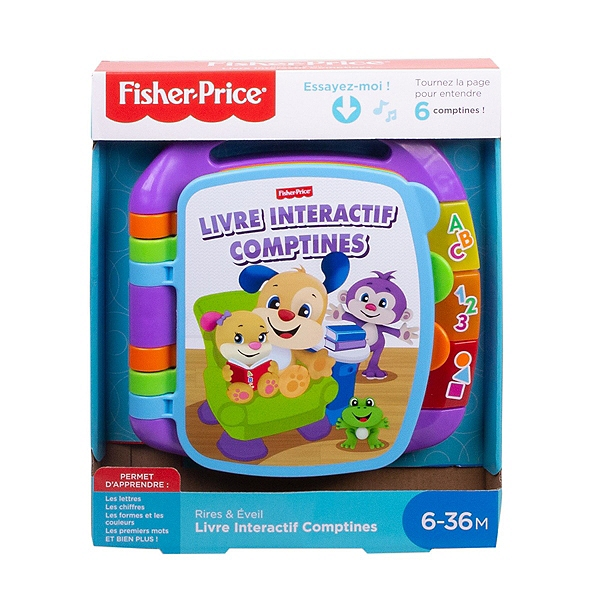 Livre Interactif Comptines Fisher Price