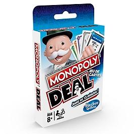 Monopoly - Jeu De Societe Monopoly Deal - Jeu De Voyage - Version Française - Hasbro - E31131010