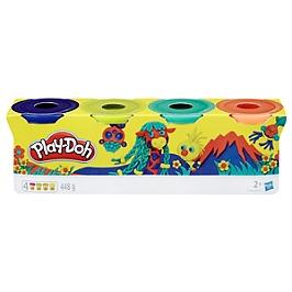 Play-Doh  4 Pots De Pate A Modeler - Couleurs Nature - 112 G Chacun - E4867ES0