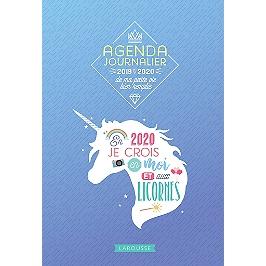 Agenda journalier de ma petite vie bien remplie 2019-2020 : en 2020 je crois en moi et aux licornes