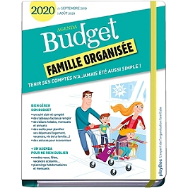 Agenda budget famille organisée 2020 : de septembre 2019 à août 2020