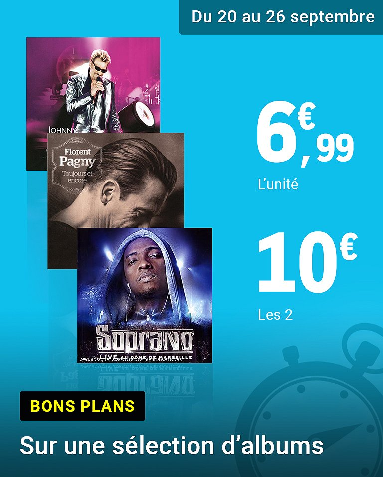 2 CD pour 10€
