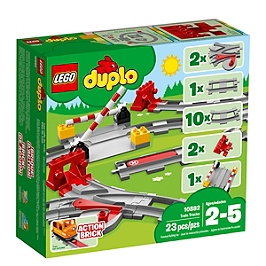 Lego® Duplo® Ma Ville - Les Rails Du Train - 10882 - 10882
