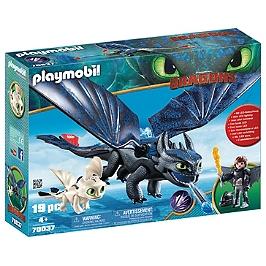 Krokmou et Harold avec bébé dragon - Dragons - 70037