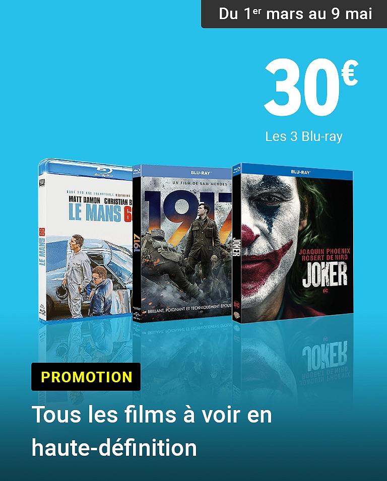 3 Blu-ray pour 30€