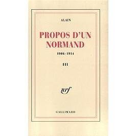 Propos d'un normand : 1906-1914