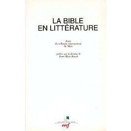 La Bible en littérature : actes du colloque de Metz, septembre 1994
