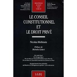 Le conseil constitutionnel et le droit privé