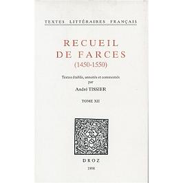 Recueil de farces : 1450-1550