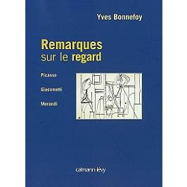 Remarques sur le regard : Picasso, Giacometti, Morandi, l'art en France entre les deux guerres