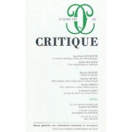 Critique, n° 605