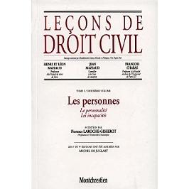 Leçons de droit civil   sous la direction de Henri et Léon Mazeaud, Jean Mazeaud, François Chabas