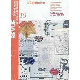 Revue de la Bibliothèque nationale de France, n° 10