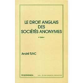 Le droit anglais des sociétés anonymes