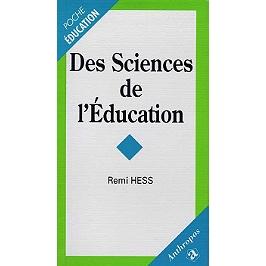 Des sciences de l'éducation