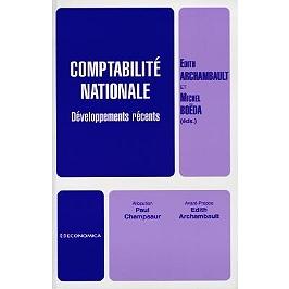 Comptabilité nationale : développements récents