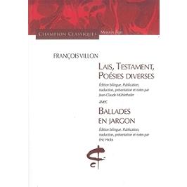 Lais, Testament, Poésies diverses | Ballades en jargon