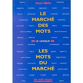 Le marché des mots, les mots du marché : le lexique