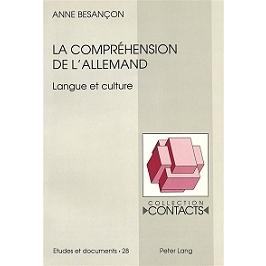 La compréhension de l'allemand : langue et culture