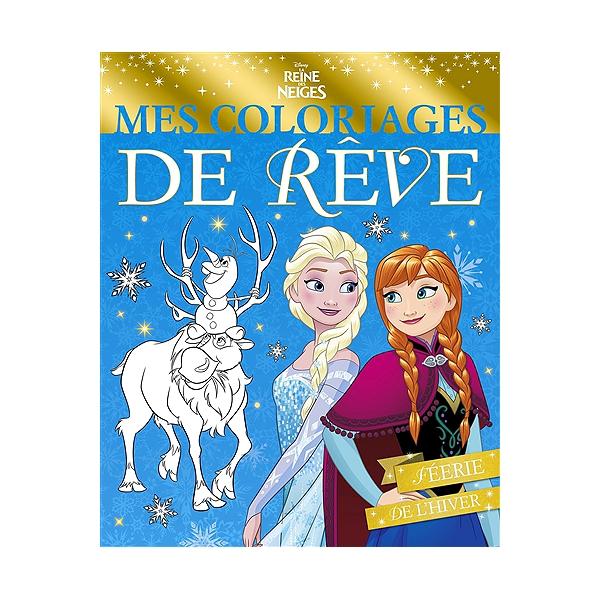 Coloriage Reine Des Neiges Hiver.La Reine Des Neiges Mes Coloriages De Reve Feerie De L Hiver