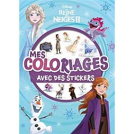 La reine des neiges 2 : mes coloriages avec des stickers