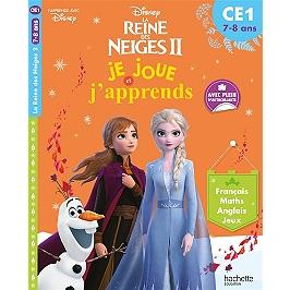 La reine des neiges II : je joue et j'apprends, CE1, 7-8 ans : français, maths, anglais, jeux