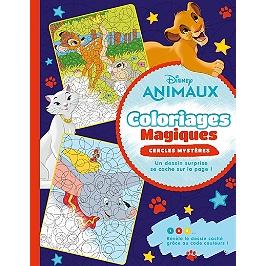 Disney animaux : coloriages magiques : cercles mystères