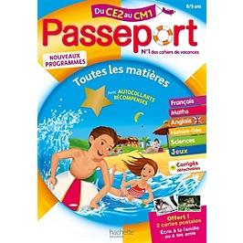 Passeport du CE2 au CM1, 8-9 ans : toutes les matières : nouveaux programmes