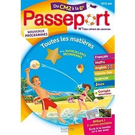 Passeport du CM2 à la 6e, 10-11 ans : toutes les matières : nouveaux programmes