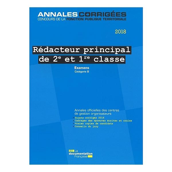 Redacteur Principal De 2e Et De 1re Classe 2018 Examens D