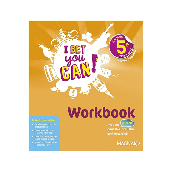 I Bet You Can Anglais 5e Cycle 4 A1 A2 Workbook Nouveau Programme