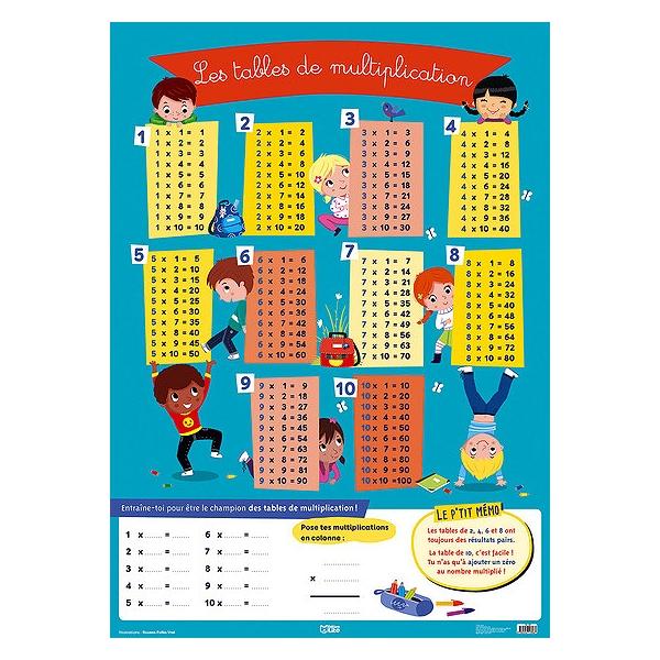 Les Tables De Multiplication 9782244113067 Espace Culturel E