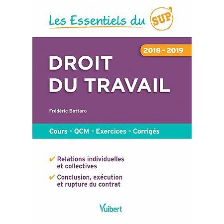 Droit Du Travail Cours Qcm Exercices Corriges 2018 2019 Au Meilleur Prix E Leclerc