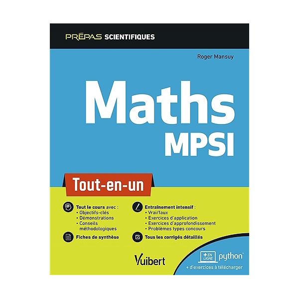 Maths MPSI : tout-en-un