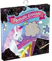 Pochette licornes : cartes à gratter, à métalliser, à pailleter de Anne Cresci - Pochette