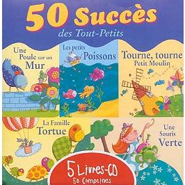 50 succès des tout-petits : 5 livres-CD : 50 comptines