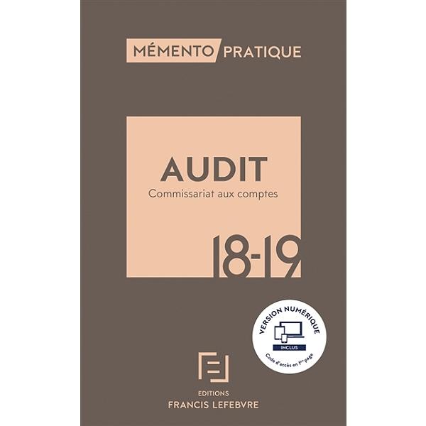 Audit Commissariat Aux Comptes 2017 2018 Editions Francis Lefebvre