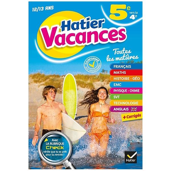 Hatier Vacances 5e Vers La 4e 12 13 Ans