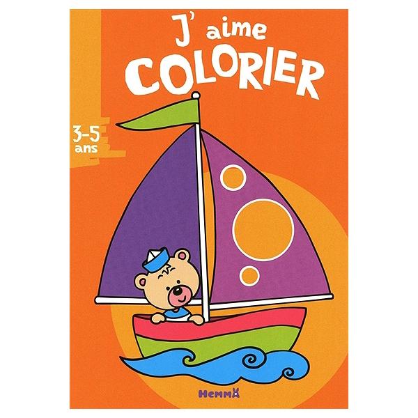 Bateau Coloriage Couleur.J Aime Colorier 3 5 Ans Bateau 9782508010675 Espace Culturel