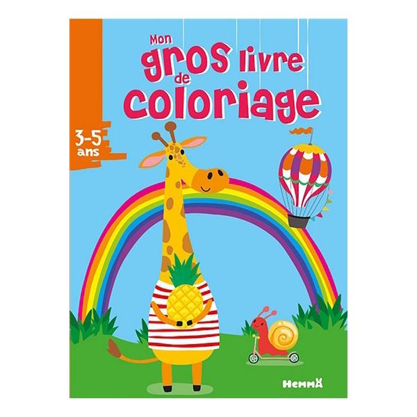 Mon Gros Livre De Coloriage 3 5 Ans Girafe