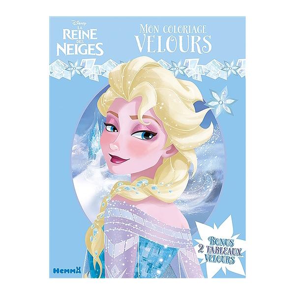 Coloriage Walt Disney Reine Des Neiges.La Reine Des Neiges Mon Coloriage Velours Walt Disney Company