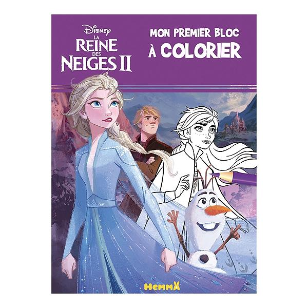La Reine Des Neiges 2 Mon Premier Bloc A Colorier Walt Disney