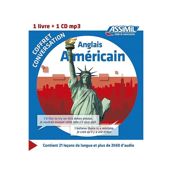 Coffret Conversation Anglais Americain 1 Livre 1 Cd Mp3