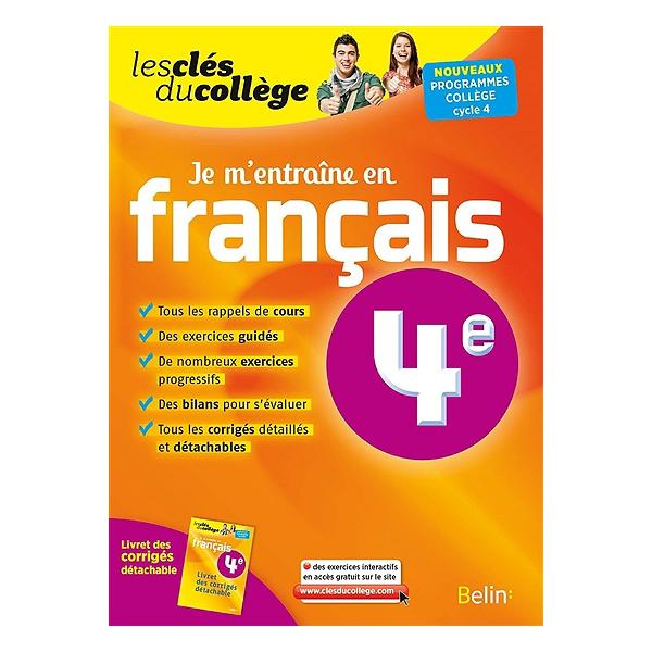 Je M Entraine En Francais 4e Nouveaux Programmes Colleges Cycle 4