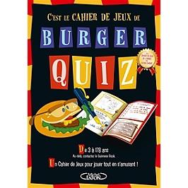 C'est le cahier de jeux de Burger Quiz