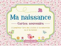 Cartes Souvenirs Ma Naissance Rose A Completer Lors Des Visites La Maternite Ou Maison