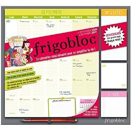 Frigobloc mensuel : de septembre 2020 à décembre 2021 : le calendrier maxi-aimanté pour se simplifier la vie !